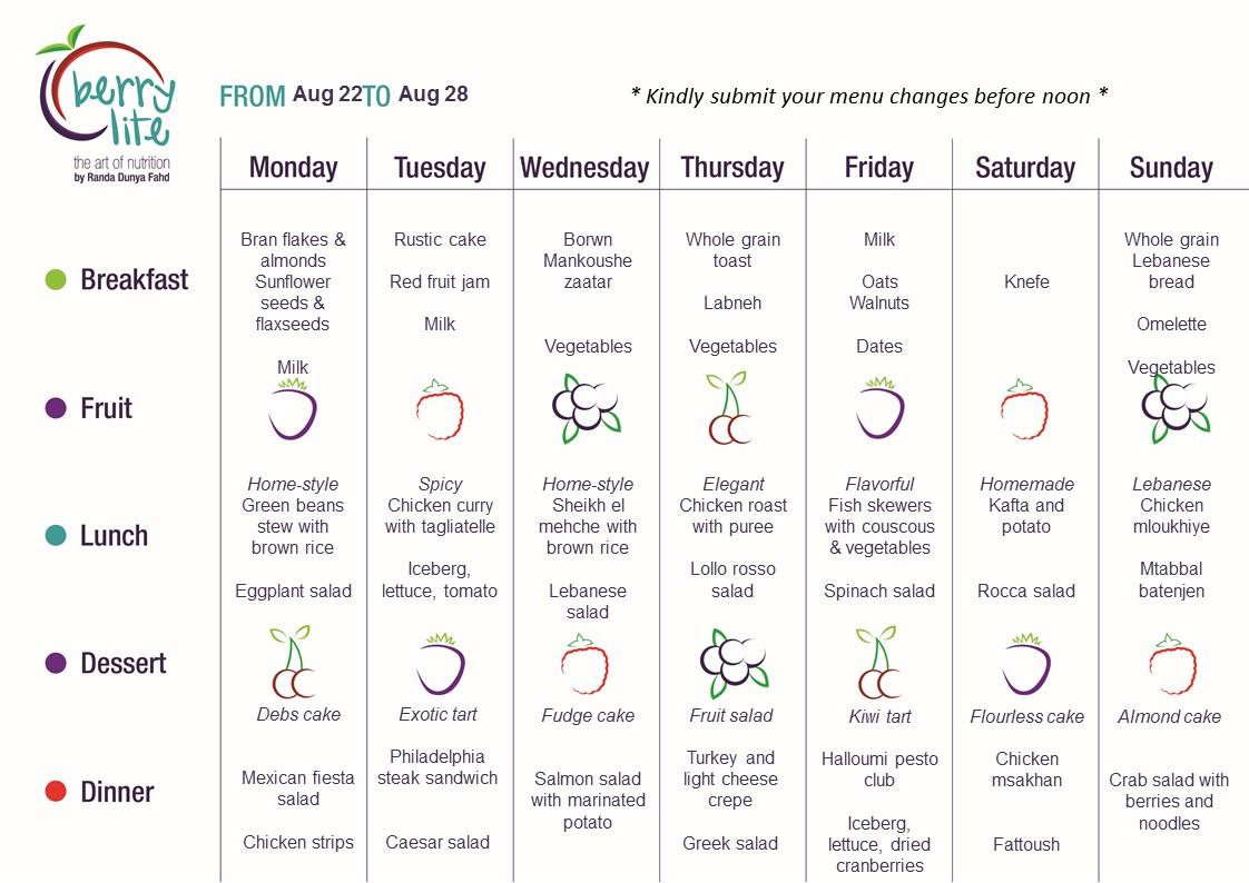 115- Berrylite menu Aug 22 till Aug 28