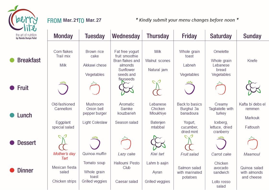 93- Berrylite menu Mar.21 till Mar. 27